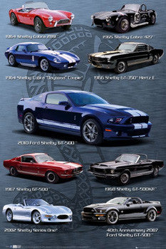 "Ford Shelby ""Nine Classics"" Mustang Sportscar Poster - GB Eye"