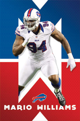 "Mario Williams ""Buffalo Beast"" NFL Action Poster - Costacos 2012"