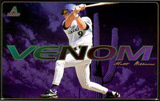 "Matt Williams ""Venom"" Arizona Diamondbacks MLB Baseball Poster - Costacos 1998"