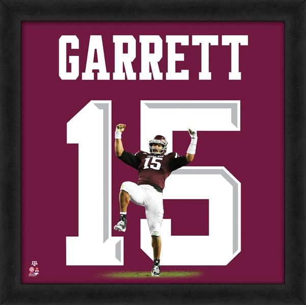 "Myles Garrett ""Number 15"" Texas A&M Aggies FRAMED 20x20 UNIFRAME PRINT - Photofile"