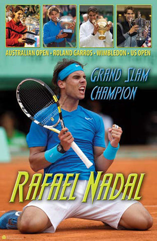 Rafael Nadal Career Grand Slam Commemorative Poster  - Tennis Life