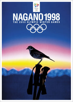 Nagano 1998 Winter Olympic Games Official Poster Reprint - Olympic Museum