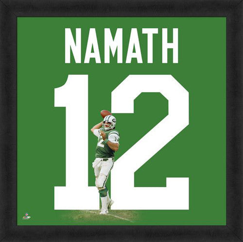 "Joe Namath ""Number 12"" New York Jets NFL FRAMED 20x20 UNIFRAME PRINT - Photofile"