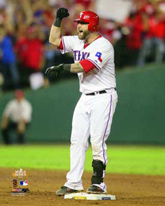 "Mike Napoli ""On the Pond"" (2011 WS Game 5) - Photofile 16x20"