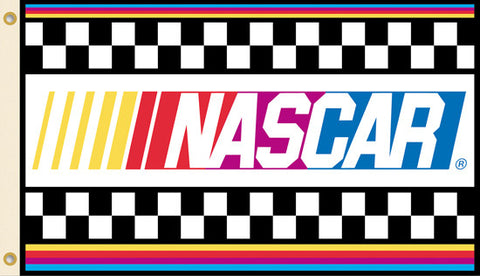Official NASCAR Checkered Flag Logo Style Premium 2-Sided FLAG - BSI Products Inc.