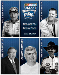 NASCAR Hall of Fame 2010 Inductees Official Poster - TF Publishing