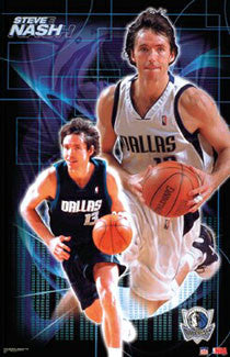 "Steve Nash ""Superstar"" Dallas Mavericks Poster - Starline 2002"