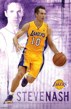 "Steve Nash ""Golden Star"" L.A. Lakers Poster - Costacos 2012"