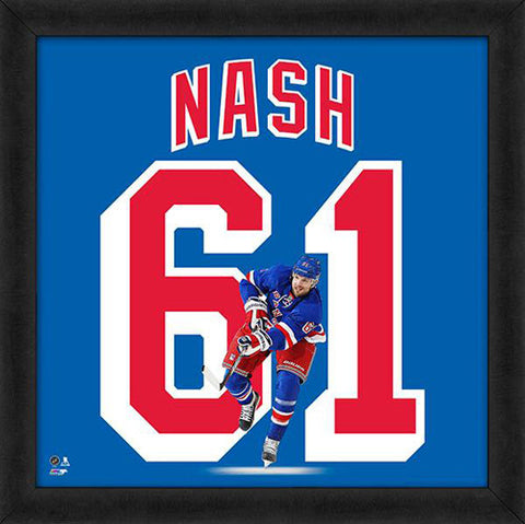 "Rick Nash ""Number 61"" New York Rangers FRAMED 20x20 UNIFRAME PRINT - Photofile"