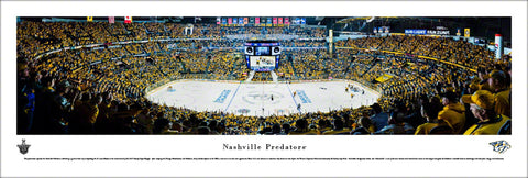 Nashville Predators Bridgestone Arena 2017 NHL Playoffs Panoramic Poster Print - Blakeway