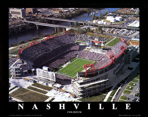"Tennessee Titans LP Field ""From Above"" Premium Poster Print - Aerial Views"