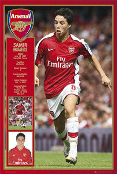 "Samir Nasri ""Young Gun"" Arsenal FC Poster - GB Eye 2008"