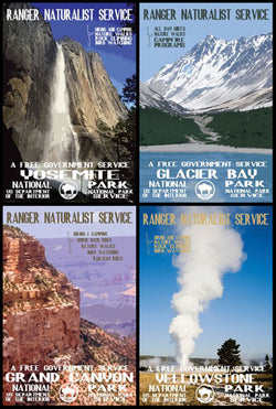 US National Park Service 1938 4-Poster Reprint Set - Image Source Int'l.