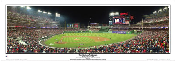 Washington Nationals First Pitch at Nationals Park (2008) Premium Poster Print - Everlasting