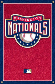 Washington Nationals Official MLB Logo Poster - Costacos
