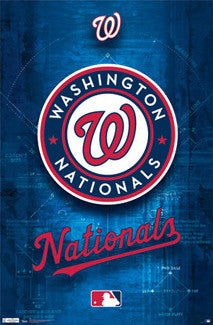Washington Nationals Official MLB Basebll Team Logo Poster - Costacos Sports