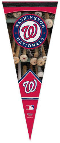 "Washington Nationals ""Batrack"" Premium Felt Collector's Pennant - Wincraft"
