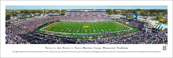 Navy Midshipmen Football Navy-Marine Corps Memorial Stadium Gameday Panoramic Poster - Blakeway 2017