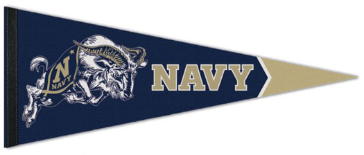 Navy Midshipmen Official NCAA Team Logo Premium Felt Pennant - Wincraft Inc.