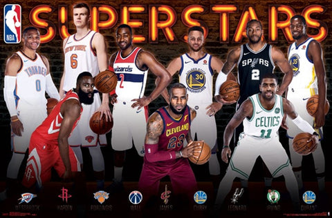 NBA Superstars 2017-18 Poster (Durant, Harden, LeBron, Curry, Westbrook, Kyrie, ++) - Trends