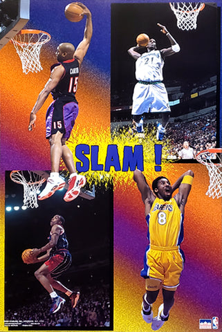 NBA Slam Dunk Superstars 2000 Poster (Kobe Bryant, Carter, Garnett, Francis) - Starline Inc.
