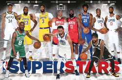 NBA Superstars 2020 Poster (Giannis, Kemba, Lebron, AD, Curry, Westbrook, Harden, Embiid, Kyrie, Kawhi, PG)