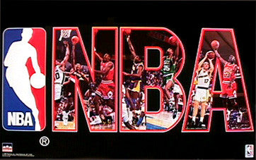NBA Action 1992 Official Poster (Michael Jordan, Magic Johnson, and more) - Starline Inc.