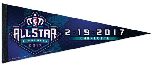 NBA Basketball All-Star Game Charlotte 2017 Commemorative Premium Felt Pennant - Wincraft Inc.