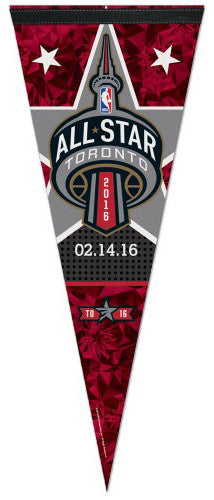NBA Basketball All-Star Game Toronto 2016 Commemorative Premium Felt Pennant - Wincraft Inc.