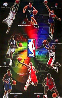 "NBA Rookies ""New School 2000"" Poster (Szczerbiak, Odom, Marion, Rip, ++) - Costacos Sports"