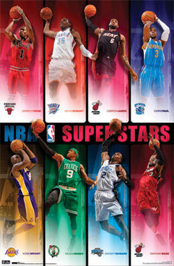NBA Superstars 2010/11 Poster (8 Greats) - Costacos Sports