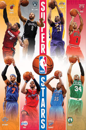 NBA Superstars 2012-13 Poster (Kobe, Durant, LeBron, +) - Costacos Sports
