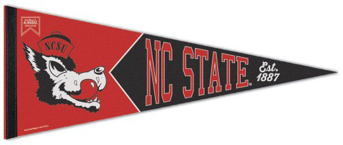 NC State Wolfpack NCAA Classic Wolf-Style Premium Felt Collector's Pennant - Wincraft Inc.