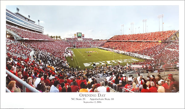 "NC State Wolfpack ""Opening Day"" Carter-Finley Stadium, Gameday Panoramic Poster Print"