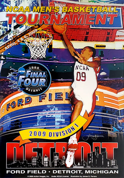 NCAA Men's Basketball Final Four 2009 Detroit Official Event Poster - Action Images Inc.