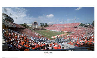 "NC State Wolfpack Football ""Cut It Loose"" Carter-Finley Stadium Gameday Poster Print - Sofa Galleria 2003"