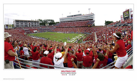 "NC State Wolfpack Football ""Fury"" Carter-Finley Stadium Panoramic Poster Print - SPI 2008"