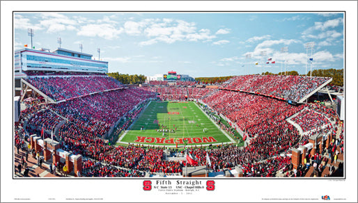 "NC State Wolfpack ""Fifth Straight"" (11/5/2011) Premium Poster Print - Sport Photos Inc."