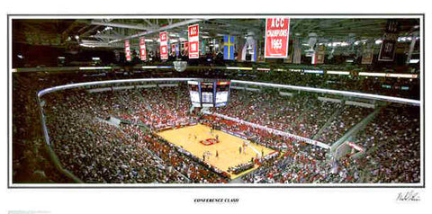 "NC State Wolfpack Basketball ""Conference Clash"" RBC Center Panoramic Poster Print - SPI 2004"