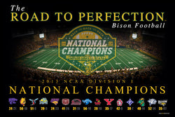 "North Dakota State Football ""Road to Perfection"" 2013 Division I Champions Poster - ProGraphs"