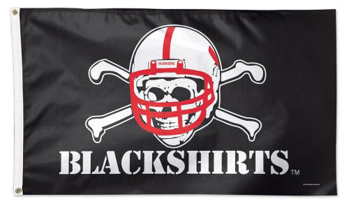 "University of Nebraska Cornhuskers Football ""Blackshirts"" NCAA Deluxe 3'x5' Flag - Wincraft Inc."