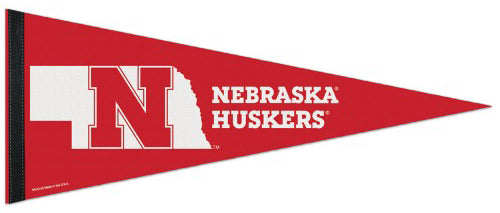 Nebraska Huskers Official NCAA Sports Team Logo Premium Felt Pennant - Wincraft Inc.