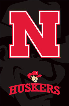 "University of Nebraska Huskers ""Herbie"" Official NCAA Logo Poster - Costacos Sports"