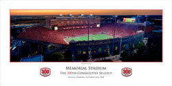 Nebraska Huskers 300th Sellout Commemorative Print - Rick Anderson 2009