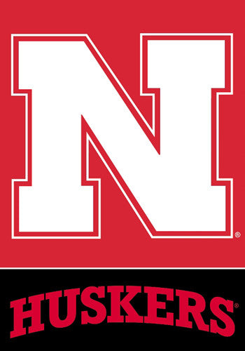 Nebraska Huskers Official 28x40 NCAA Premium Team Banner - BSI Products