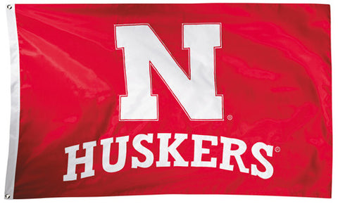 Nebraska Huskers Official NCAA Premium Nylon Applique 3'x5' Flag - BSI Products Inc.