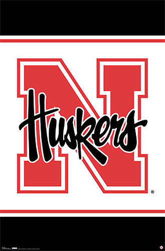 Nebraska Huskers Official NCAA Team Logo Poster - Costacos Sports