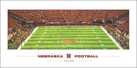 "Nebraska Huskers Football ""Since 1890"" Memorial Stadium Gameday Kickoff Premium Poster Print - Rick Anderson"
