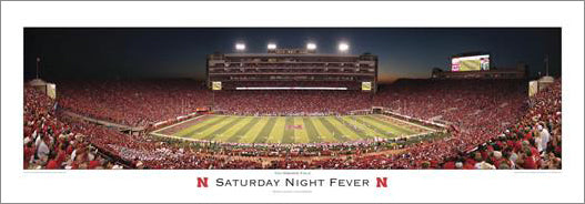 "Nebraska Cornhuskers ""Saturday Night Fever"" Panoramic Poster Print - R.A. 2010"