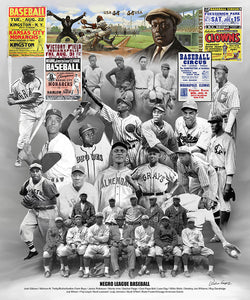 Negro Leagues Baseball Historical Collage Premium Poster Print - Wishum Gregory